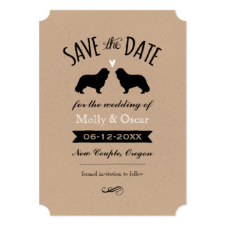 Cavalier King Charles Wedding Save the Date Card