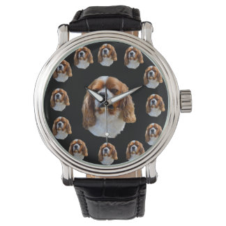 Cavalier Spaniel Dog Face Pattern, Watch