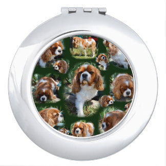 Cavalier Spaniel Photo Collage, Makeup Mirrors