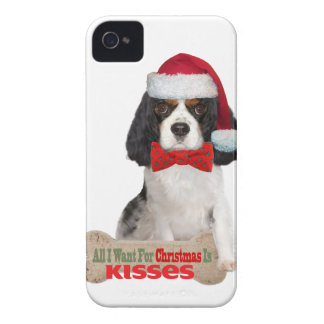 Cavalier Wants For Christmas Kisses iPhone 4 Case