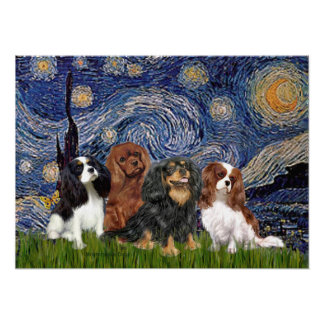 Cavaliers (4) - Starry Night Poster