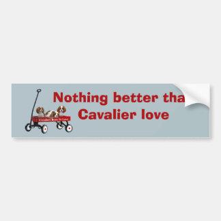 Cavaliers In Wagon Bumper Sticker