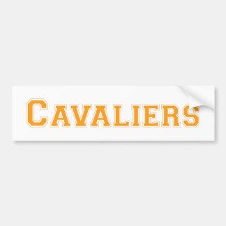 Cavaliers square logo in orange bumper sticker
