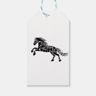 Cavallerone - black horse gift tags