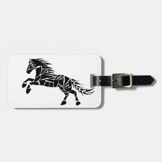 Cavallerone - black horse luggage tag