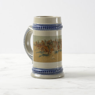 Cavalry in Sixties, Southern Plains, Remington Beer Stein