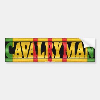Cavalryman Vietnam Service Ribbon Bumper Sticker