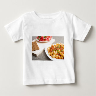 Cavatappi Pasta with sauce of stewed vegetables Baby T-Shirt