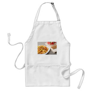 Cavatappi Pasta with sauce of stewed vegetables Standard Apron