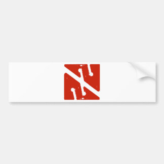 cave arrow flag bumper sticker