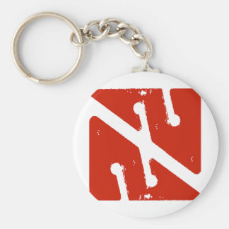 cave arrow flag key ring