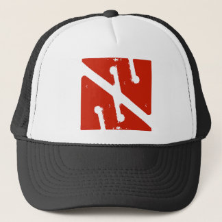 cave arrow flag trucker hat