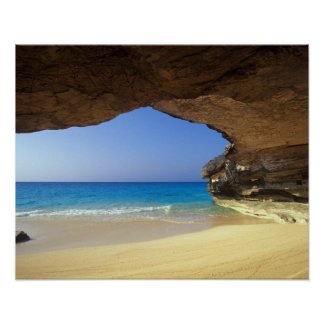 Cave at French Bay, San Salvador Island, Poster