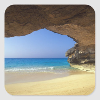 Cave at French Bay, San Salvador Island, Square Stickers