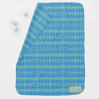 Cave Boy Blue Baby Blanket