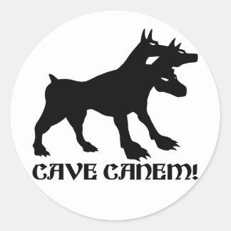 CAVE CANEM - BEWARE OF DOG Latin Classic Round Sticker