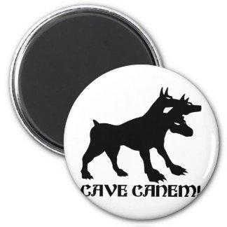 CAVE CANEM - BEWARE OF DOG Latin 6 Cm Round Magnet