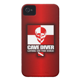 Cave Diver -Living On The Edge Case-Mate iPhone 4 Cases