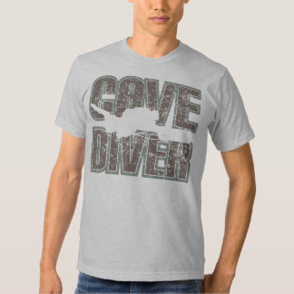 cave diver text distressed t-shirt