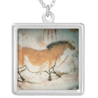 Cave drawings Lascaux French Prehistoric Drawings Silver Plated Necklace