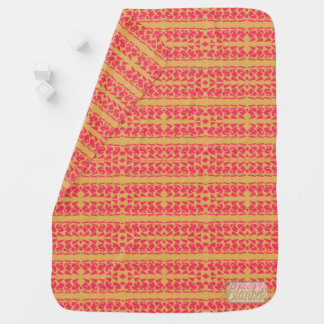 Cave Girl Pink Baby Blanket