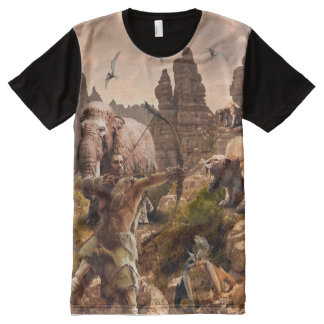CAVE MAN ON THE ROCKS All-Over PRINT T-Shirt