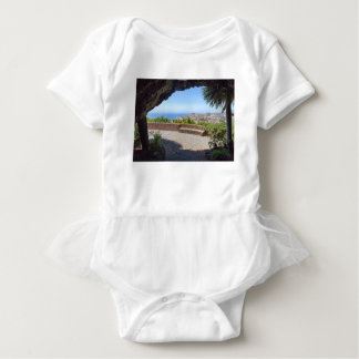 Cave outlook on sea and village on Madeira Baby Bodysuit