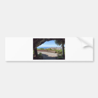 Cave outlook on sea and village on Madeira Bumper Sticker