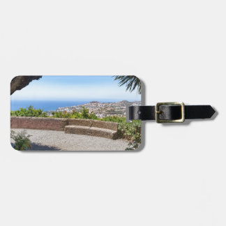 Cave outlook on sea and village on Madeira Luggage Tag