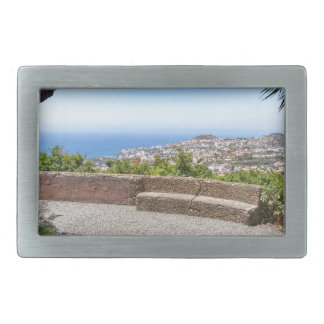 Cave outlook on sea and village on Madeira Rectangular Belt Buckles