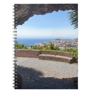 Cave outlook on sea and village on Madeira Spiral Notebook