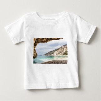 Cave outlook on sea mountain and beach baby T-Shirt