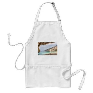 Cave outlook on sea mountain and beach standard apron