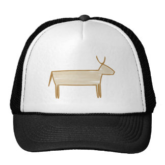 Cave painting cattle cave kind cattle trucker hat