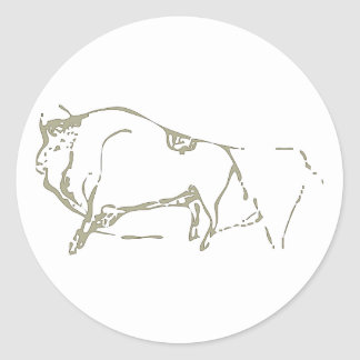 Cave painting Cave kind Round Stickers
