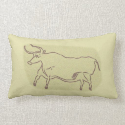 Cave painting cave painting throw pillow