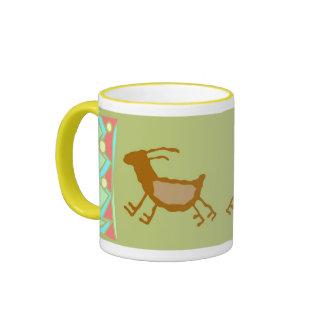 Cave Painting Deers Coffee Mug