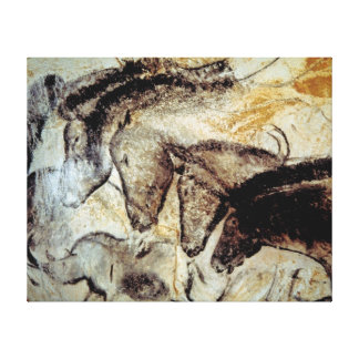 Cave Painting of Horses on Canvas Gallery Wrap Canvas