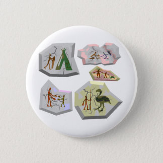 cave paintings 6 cm round badge