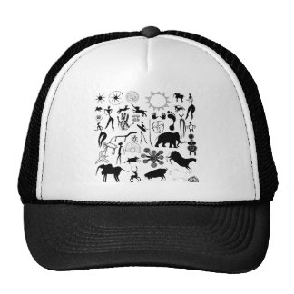 cave paintings - primitive art hat