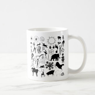 cave paintings - primitive art coffee mugs