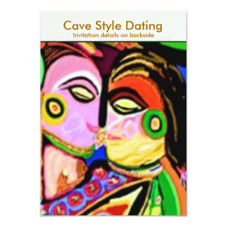 Cave Style Dating Den 13 Cm X 18 Cm Invitation Card