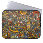 Cave Symbols-Modern Art Watercolor Laptop Sleeve