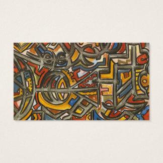 Cave Symbols-Modern Geometric Art Business Card