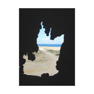 Cave View Canvas Print