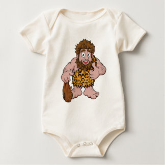 Caveman Cartoon Baby Bodysuit