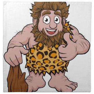 Caveman Cartoon Napkin