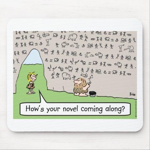 caveman cave painting novel mousepads