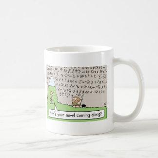 caveman cave painting novel mug