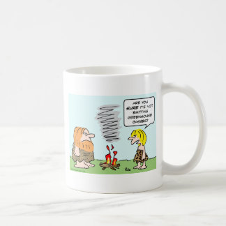 caveman fire greenhouse gases emission mug